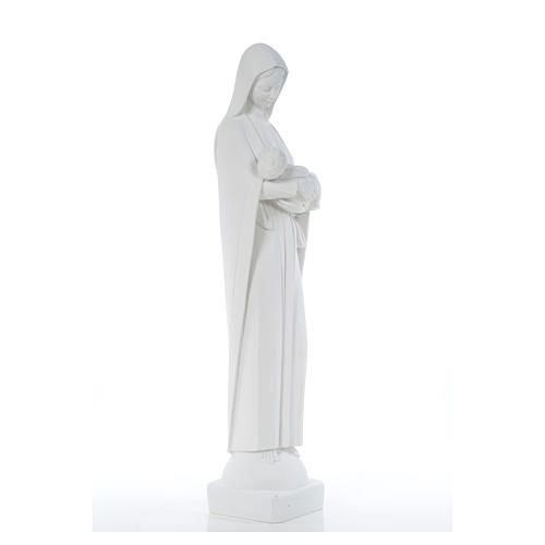 Our Lady with Child, reconstituted marble statue, 80 cm 8