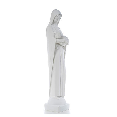 Our Lady with Child, reconstituted marble statue, 80 cm 4