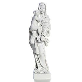 Vierge à l'enfant marbre blanc 25 cm s1