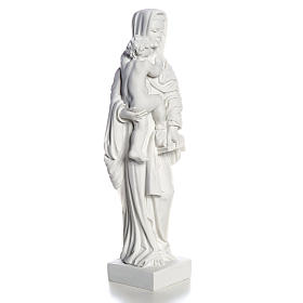 Vierge à l'enfant marbre blanc 25 cm s3