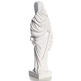 Vierge à l'enfant marbre blanc 25 cm s4
