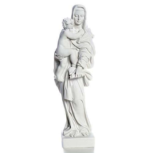 Vierge à l'enfant marbre blanc 25 cm 1