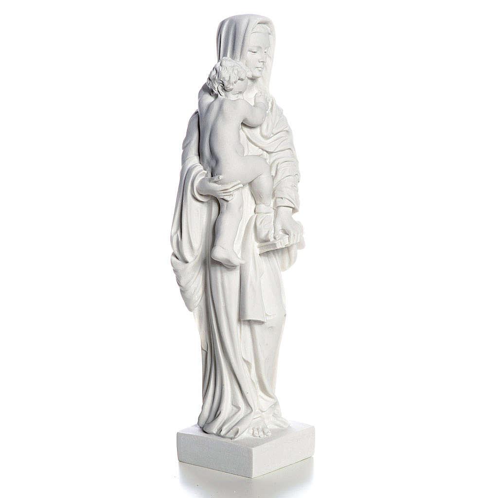Madonna con bimbo cm 25 polvere di marmo 4