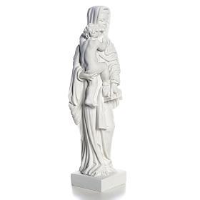 Madonna con bimbo cm 25 polvere di marmo s8