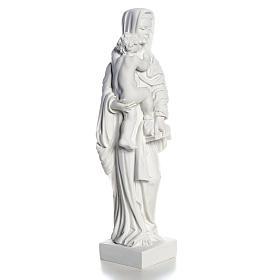 Madonna con bimbo cm 25 polvere di marmo s3