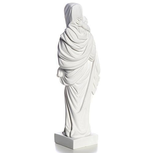 Madonna con bimbo cm 25 polvere di marmo 7