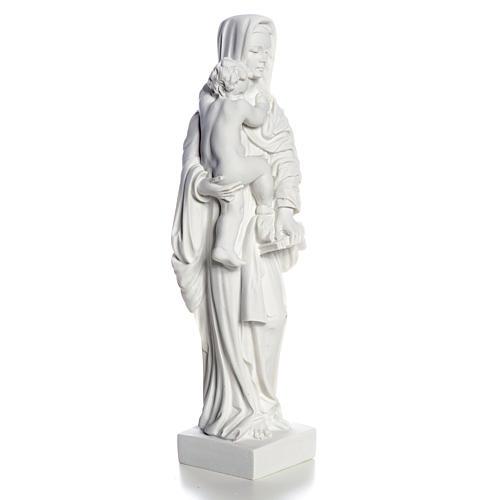 Madonna con bimbo cm 25 polvere di marmo 8