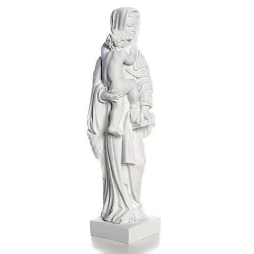 Madonna con bimbo cm 25 polvere di marmo 3