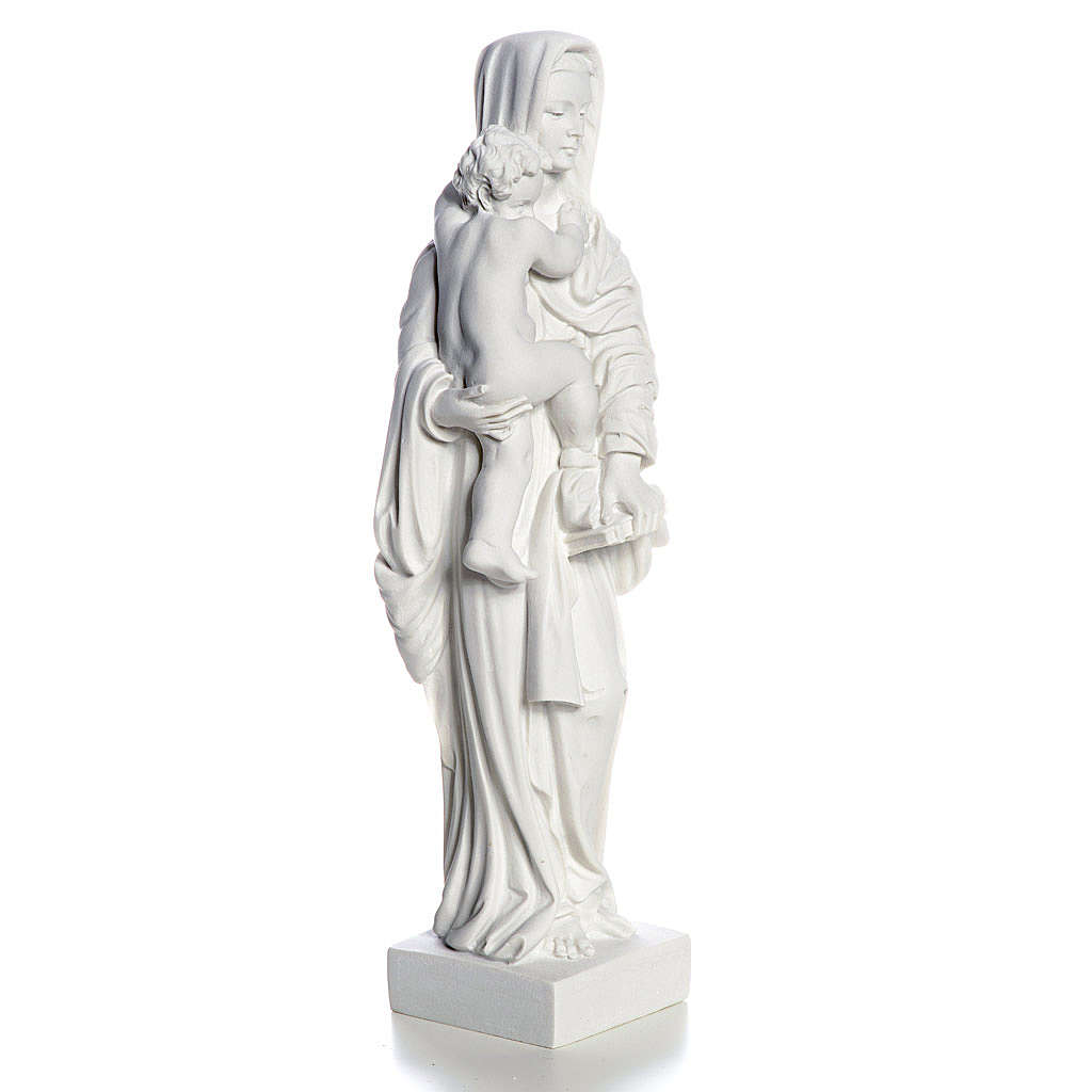 Our Lady with Child statue in composite marble, 25 cm 4