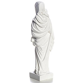 Our Lady with Child statue in composite marble, 25 cm s7