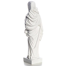 Our Lady with Child statue in composite marble, 25 cm s4
