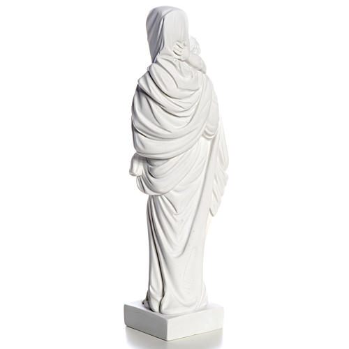 Our Lady with Child statue in composite marble, 25 cm 7