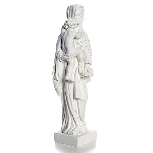 Our Lady with Child statue in composite marble, 25 cm 3