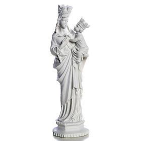 Madonna di Trapani 25 cm marmo bianco s1