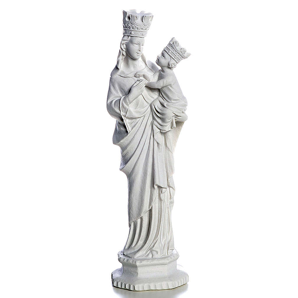 Our Lady of Trapani statue in reconstituted marble, 25 cm 4