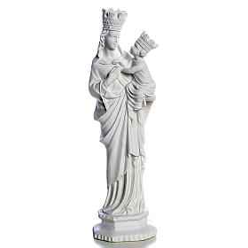 Our Lady of Trapani statue in reconstituted marble, 25 cm s1