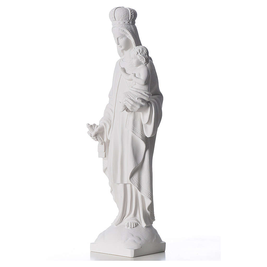 Our Lady of Carmel statue in reconstituted marble 60 cm 4