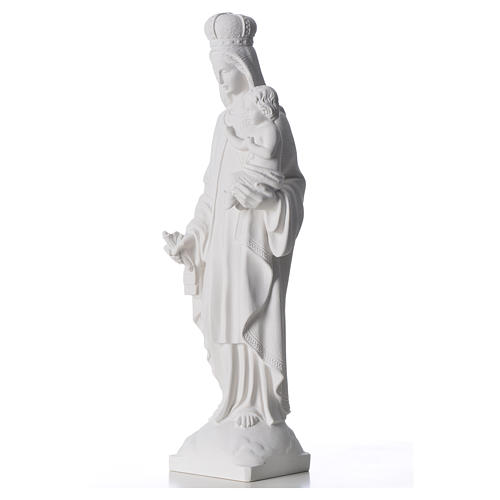 Our Lady of Carmel statue in reconstituted marble 60 cm 6