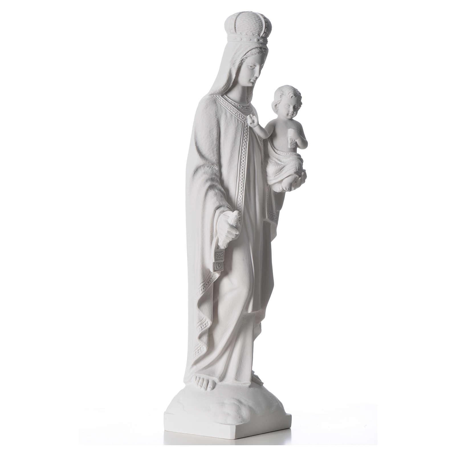 Matka Boża z Góry Karmel marmur syntetyczny biały 60 cm 4