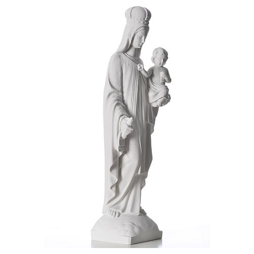 Nossa Senhora do Carmo mármore sintético branco 60 cm 4