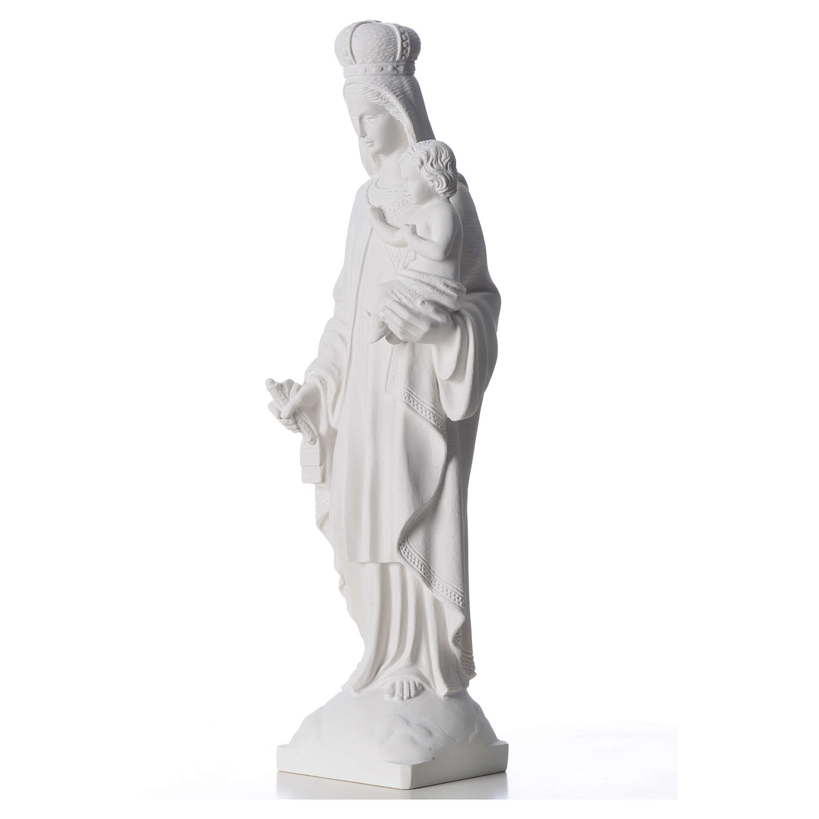 Our Lady of Carmel statue in composite marble 60 cm 4