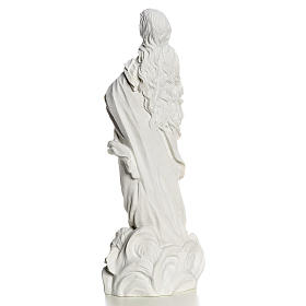 Beata Vergine Assunta marmo sintetico bianco 35-55 cm s4