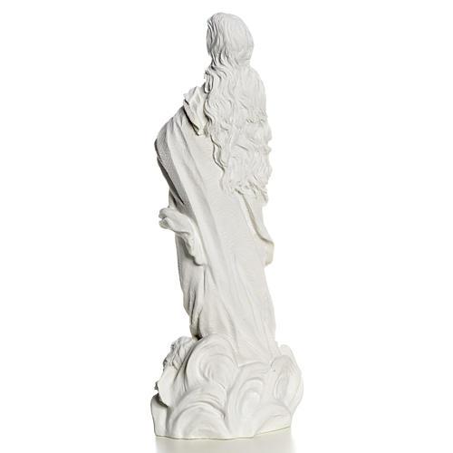 Beata Vergine Assunta marmo sintetico bianco 35-55 cm 4