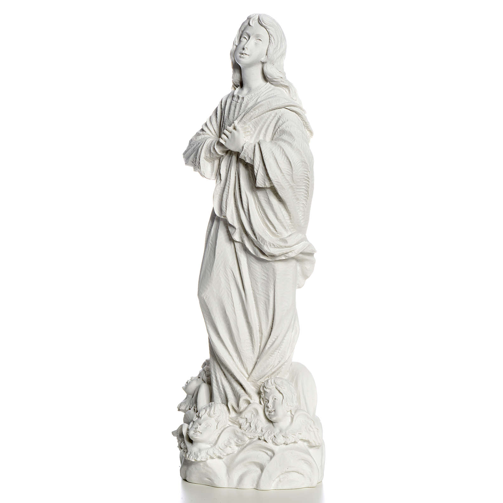 Blessed Virgin Mary in Composite Carrara marble 35-55 cm 4