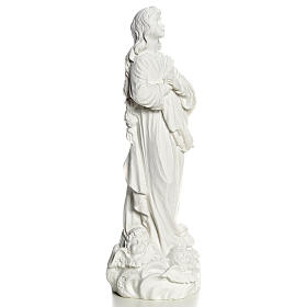 Blessed Virgin Mary in Composite Carrara marble 35-55 cm s8