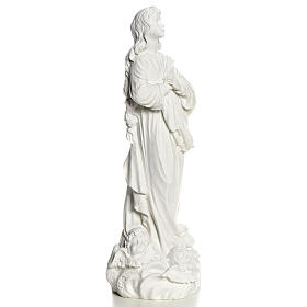 Blessed Virgin Mary in Composite Carrara marble 35-55 cm s3
