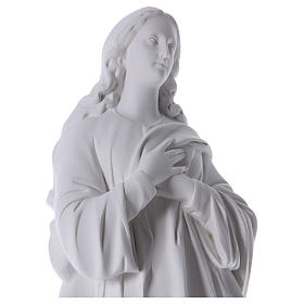 Virgen de la Asunción 100cm mármol sintético s2
