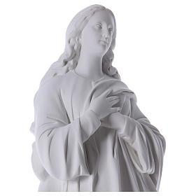 Beata Vergine Assunta marmo sintetico bianco 100 cm