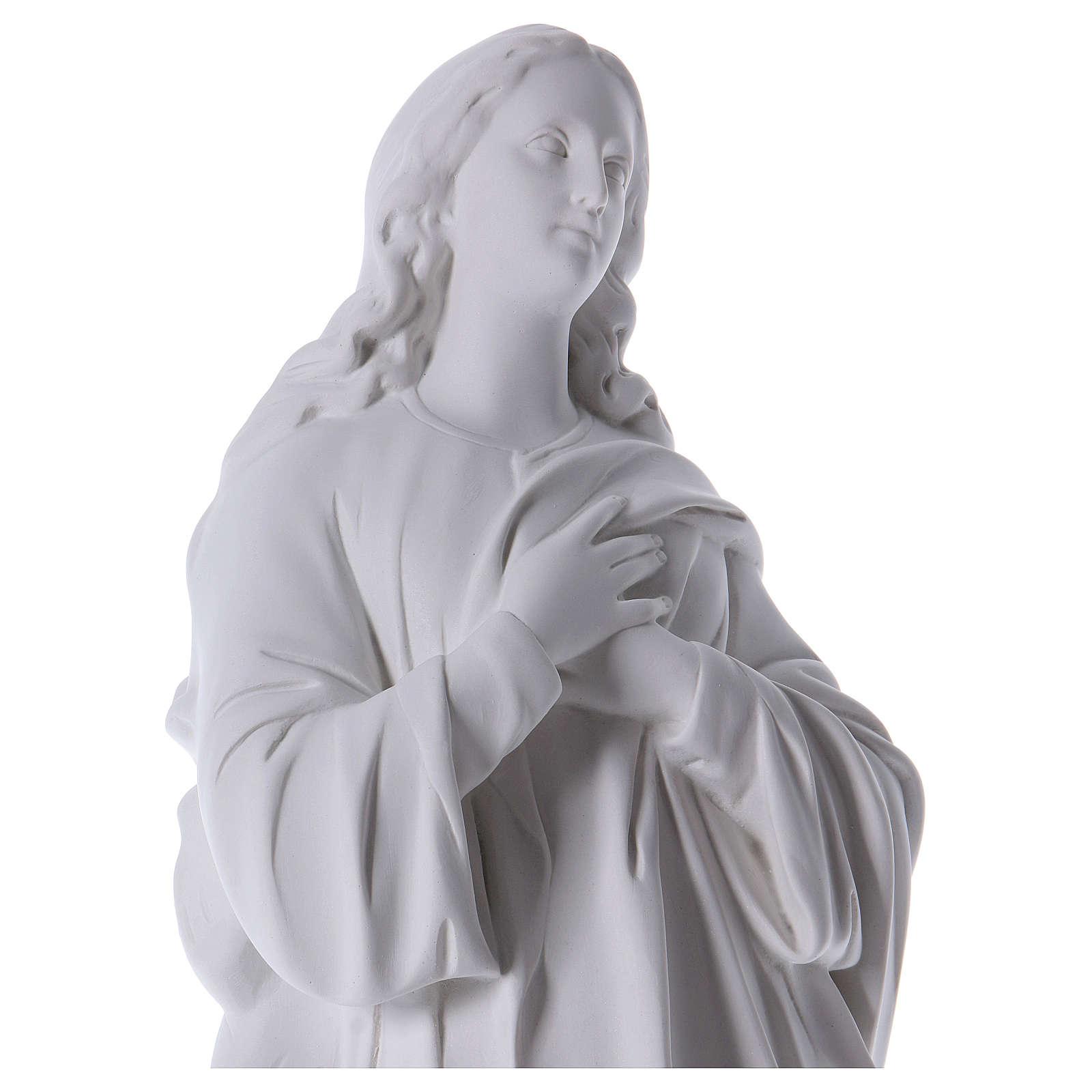 Wniebowzięta Dziewica Maryja marmur syntetyczny biały 100 cm 4