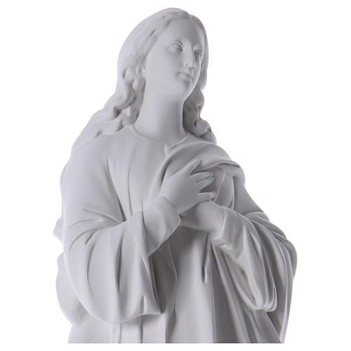 Wniebowzięta Dziewica Maryja marmur syntetyczny biały 100 cm 2