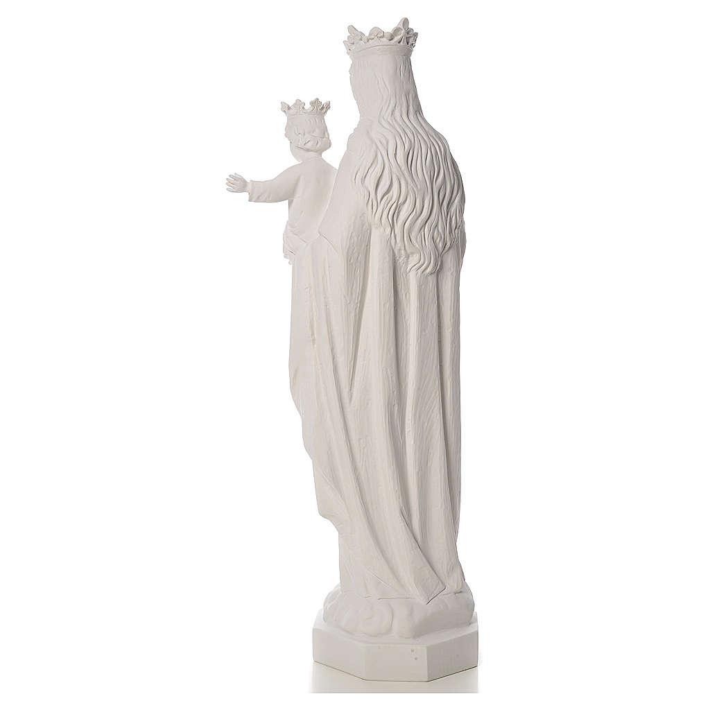 Vierge Marie Auxiliatrice marbre blanc 100 cm 4