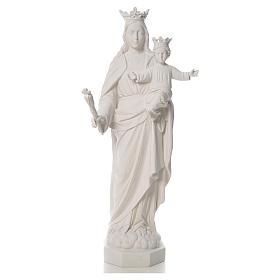 Vierge Marie Auxiliatrice marbre blanc 100 cm s5