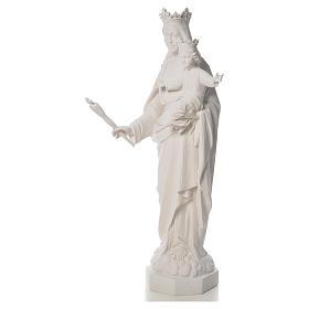 Vierge Marie Auxiliatrice marbre blanc 100 cm s6