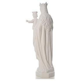 Vierge Marie Auxiliatrice marbre blanc 100 cm s3