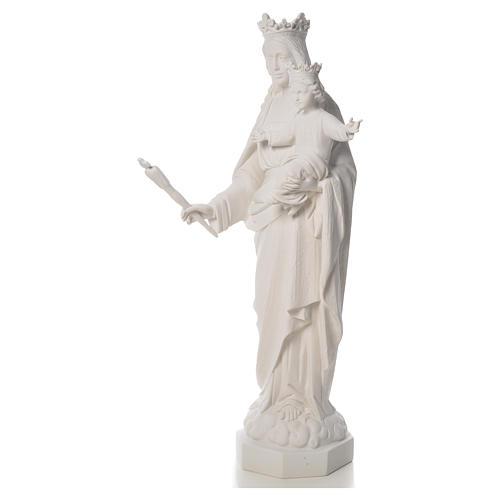 Vierge Marie Auxiliatrice marbre blanc 100 cm 6