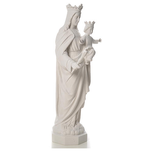 Vierge Marie Auxiliatrice marbre blanc 100 cm 8