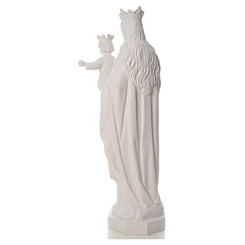 Vierge Marie Auxiliatrice marbre blanc 100 cm 3