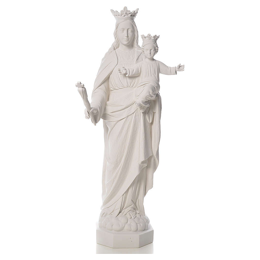 Mary Help Of Christians Statue In Reconstituted Marble
