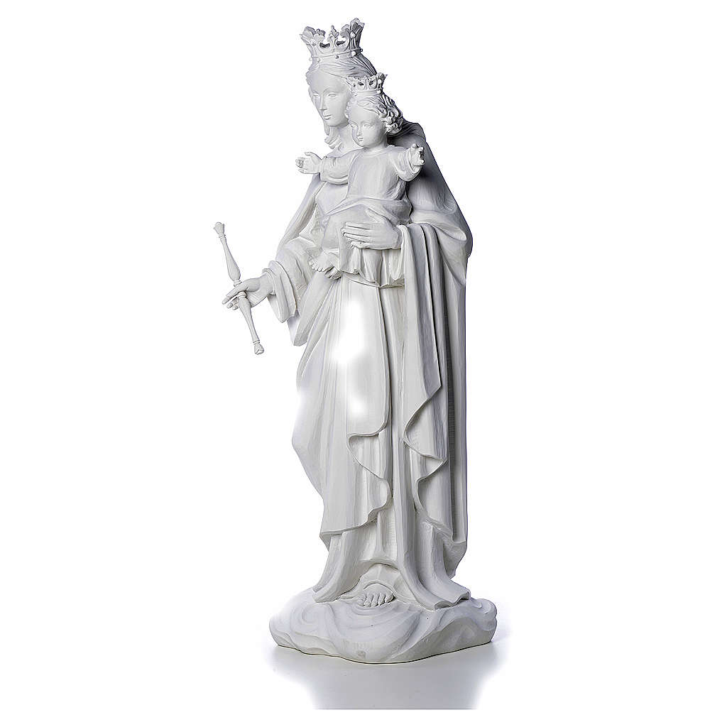 Vierge Marie Auxiliatrice marbre blanc 80 cm 4