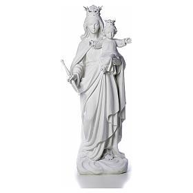 Vierge Marie Auxiliatrice marbre blanc 80 cm s1