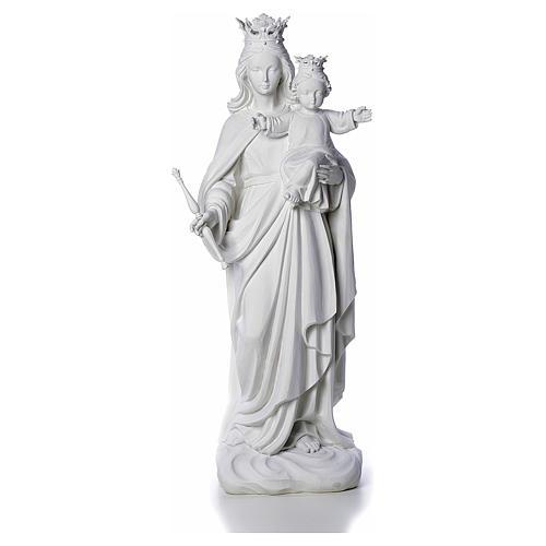 Vierge Marie Auxiliatrice marbre blanc 80 cm 1