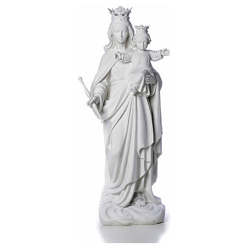 Mary Help of Christians statue in reconstituted marble 80 cm 2