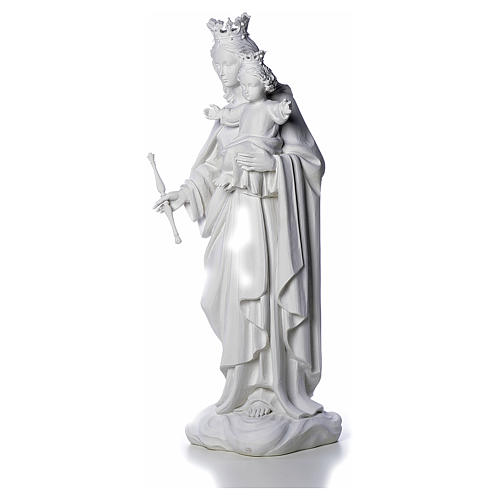 Mary Help of Christians statue in reconstituted marble 80 cm 3