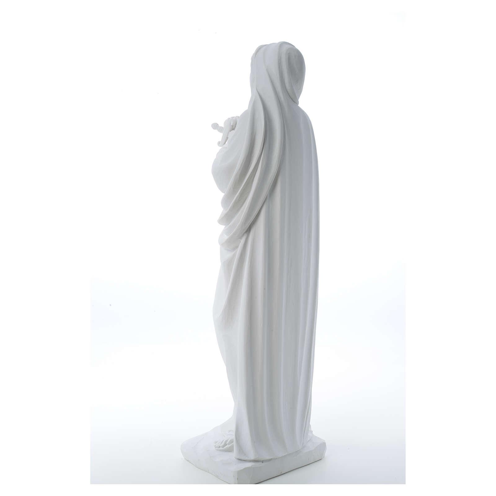 Addolorata cm 80 marmo bianco 4