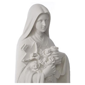 Santa Teresa cm 100 polvere di marmo di Carrara s9