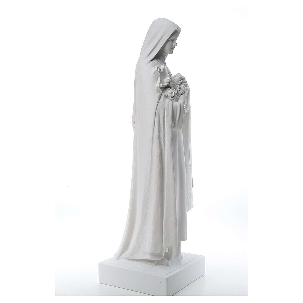 Saint Therese, 100 cm reconstituted marble statue 4